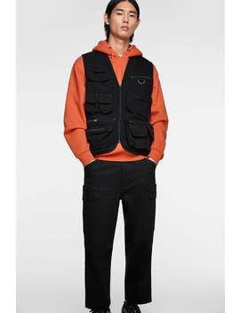 Utility Gilet Crossbody And Bum Bags Bags And Backpacks Man by Zara