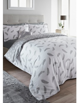 100% Cotton Sateen Feather Duvet Cover by Matalan