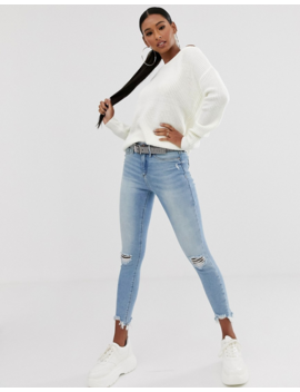 Missguided Off Shoulder Sweater In White by Missguided's