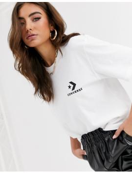 Converse White Oversized Star Chevron T Shirt by Converse