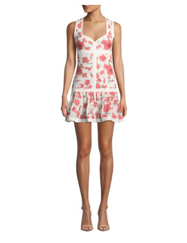 Lilou Sleeveless Floral Short Dress by Alexis
