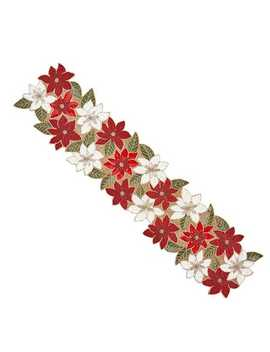 "Beaded Poinsettia 54"" Table Runner by Pier1 Imports"