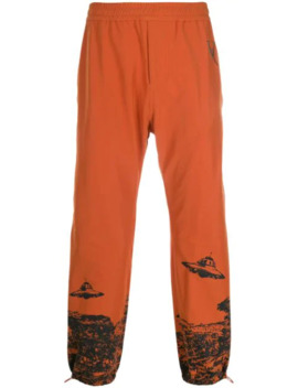 Elasticated Ufo Print Track Pants by Undercover