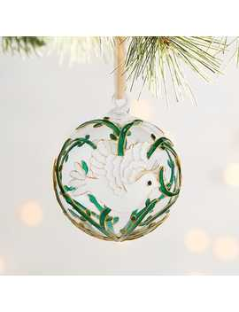 Dove Glass Ornament by Cloisonne Collection