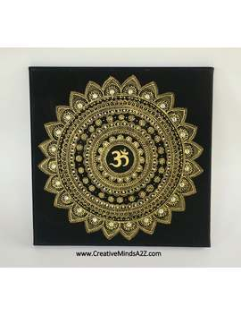 Beautiful Om Mandala On Canvas Diwali Home Wedding Decor Party Diwali Favor/Mehndi Nite/Henna Painted Spiritual Mandala Wall Art by Etsy