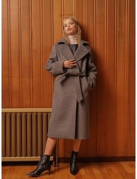 Double Slim Wool Coat Gray by Wardrobe