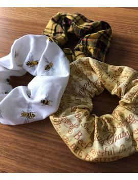Save The Bees Scrunchies Collection // Handmade Scrunchies // Bee Scrunchies // Plaid Scrunchies by Etsy
