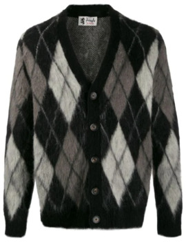 Argyle Mohair Cardigan by Pringle Of Scotland