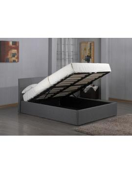 Modern Ottoman Storage Gas Lift Up 3ft 4ft6 5ft Grey Fabric Bed With Mattress by Ebay Seller