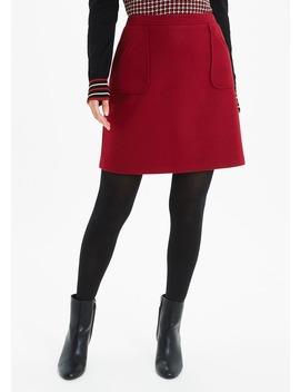 Wool Look A Line Skirt by Matalan