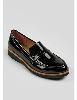 Patent Chunky Loafers by Matalan