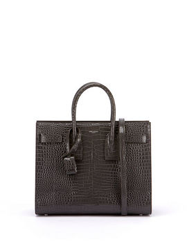 Saint Laurent Sac De Jour Small Crocodile Embossed Satchel Bag   Silver Hardware by Saint Laurent