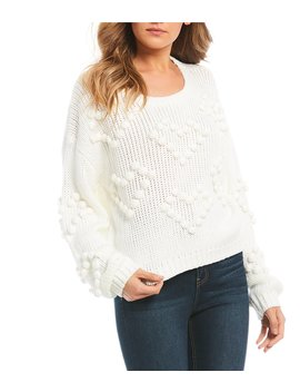 Heart Pom Sweater by Gb