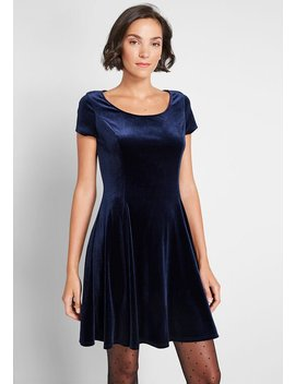 Velvet Vibes Skater Dress by Modcloth