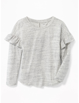 Relaxed Ruffle Trim Top For Girls by Old Navy