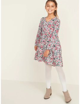Printed Twill Babydoll Dress For Girls by Old Navy