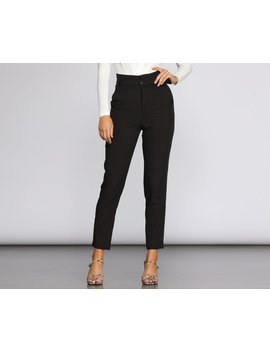 Classic And Chic Belted Pants by Windsor