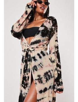 Long Kimono De Plage Manches Longues by Missguided