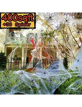 Halloween Decorations Spider Web, Stretch Cobwebs For Halloween Indoor/Outdoor by Caotop