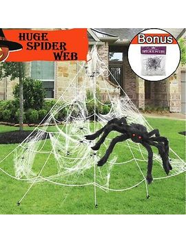 Mega Huge Giant Large Outdoor Yard Giant Spooky Spider Web Halloween Party Decor by Branded