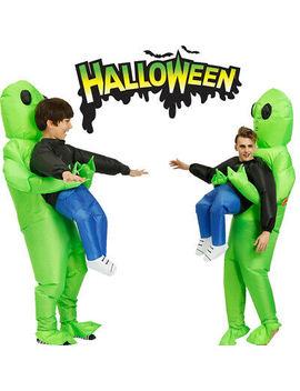 Halloween Adult Inflatable Monster Costume Green Alien Carrying Human Cosplay Us by Unbranded