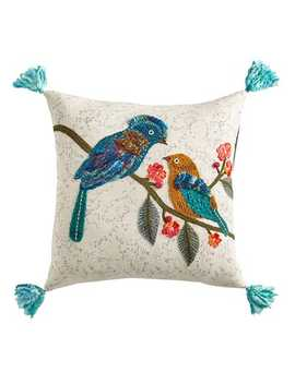 Two Birds On Branches Pillow With Tassels by Pier1 Imports