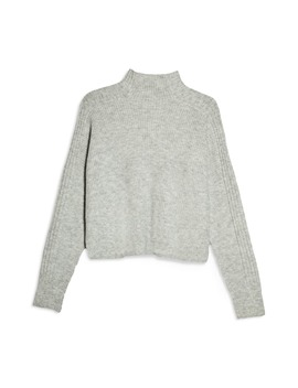 Funnel Neck Crop Sweater by Topshop