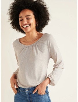 Loose 3/4 Length Poet Sleeve Top For Women by Old Navy