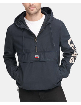 Men's Garment Dyed 1/2 Zip Hooded Twill Jacket by General