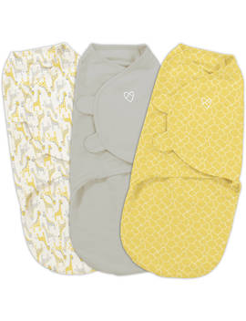 Swaddle Me Original Swaddle, 3 Pack, Grey Yellow Safari, Small by Summer Infant
