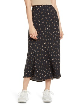 Print Midi Skirt by Love, Fire