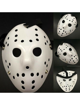 Jason Voorhees Friday The 13th Horror Movie Hockey Mask Scary Halloween Mask New by Unbranded