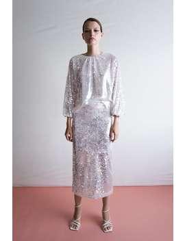 Sequinned Pencil Skirt Midi Skirts Woman by Zara
