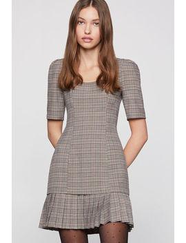 Plaid Ruffle Mini Dress by Bcbgeneration