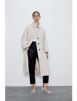 Coat With Pockets Collection Neutral Necessities Woman by Zara