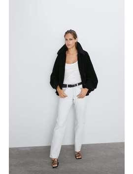 Faux Fur Jacket View All Coats Woman by Zara