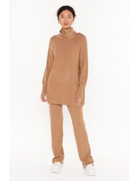 Roll On Home Time Turtleneck Sweater And Pants Set by Nasty Gal