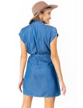 Leona Tie Waist Shift Dress by Francesca's