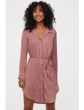 Košilové šaty Se Zavazováním by H&M