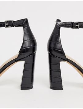 Aldo Uniolia Block Heel Sandal In Black Croc by Aldo