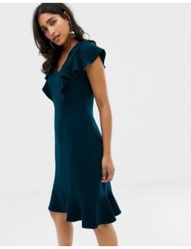 Closet Frill Hem And Shoulder Dress by Closet