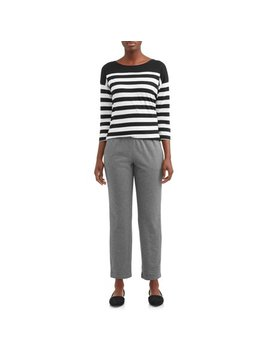 Women's Knit Pull On Pant by Time And Tru