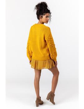 Arya Bobble Sleeve Sweater by Francesca's