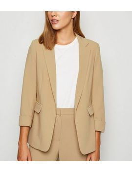 Camel Roll Sleeve Blazer by New Look