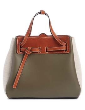 Mini Lazo Leather & Canvas Bag by Loewe