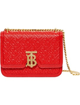 Small Tb Monogram Quilted Leather Bag by Burberry