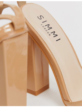 Simmi London Exclusive Tasha Blush Barely There Block Heeled Sandals by Simmi