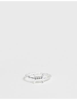 Asos Design   Echt Zilveren Prikkeldraadring by Asos Design
