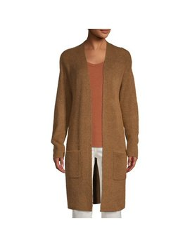 Women's Pocket Rib Duster Cardigan by Time And Tru