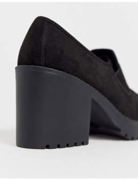 Asos Design Wide Fit Stockton Chunky Loafers In Black by Asos Design